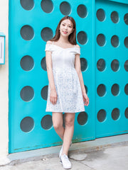 Bria drop shoulders print dress