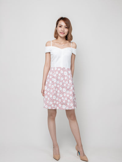 Bria drop shoulders floral dress