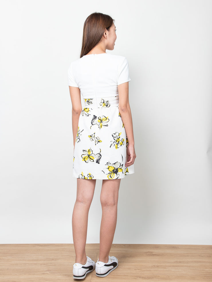 Ciara yellow floral dress