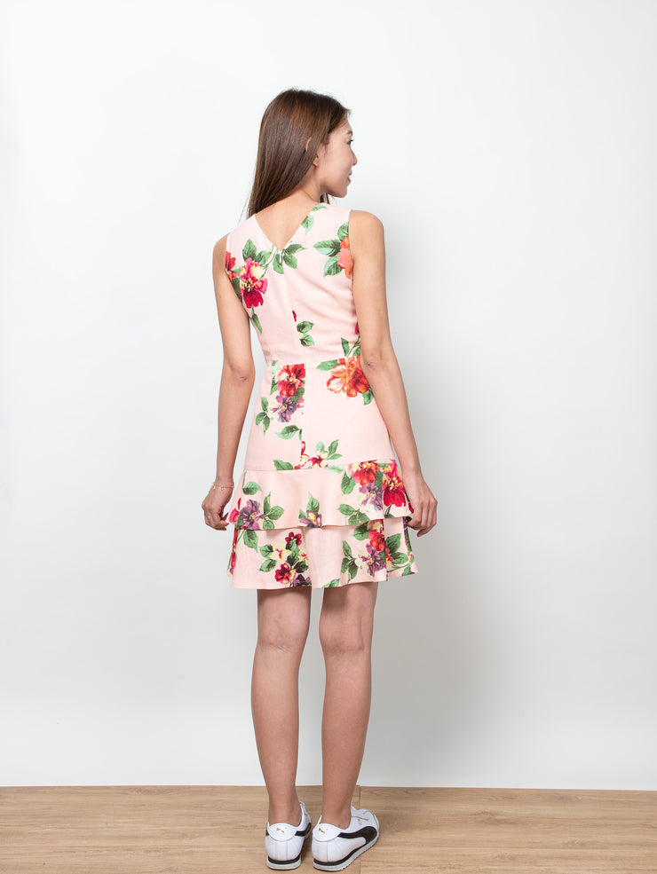 Ciara floral two layers dress