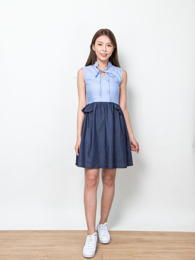 Ciara gathered collar dress