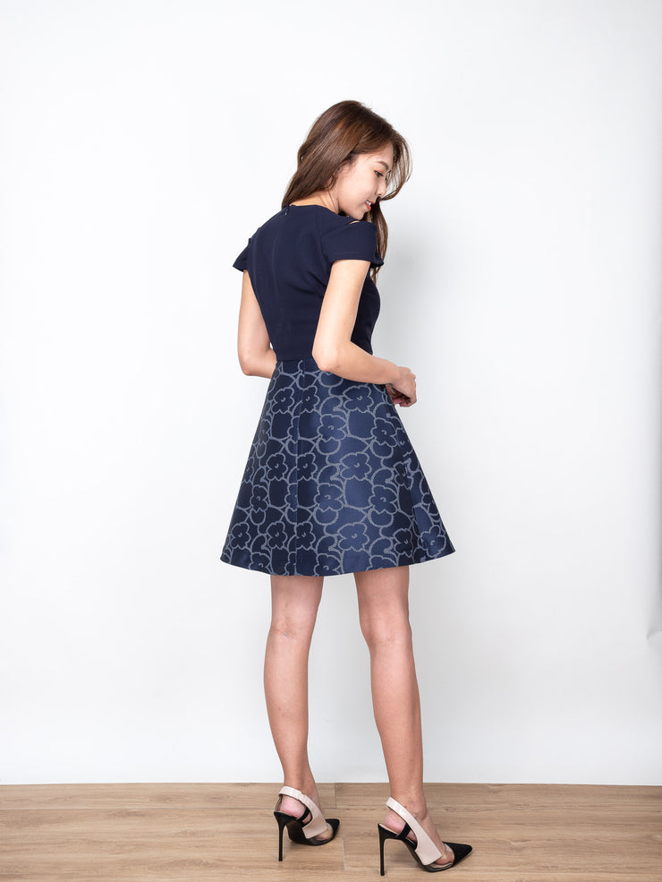 Ciara navy floral dress