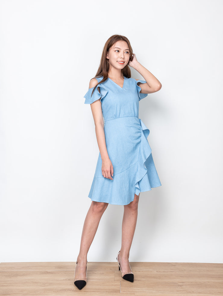 Ciara gathered layer dress