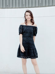Daisy black lace dress