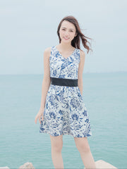 Daisy blue print dress (Pre order-Expected delivery 23rd May)