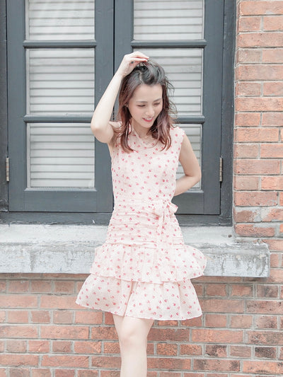 Daisy gathered ruffle dress