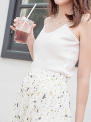 Daisy pleated floral skirt