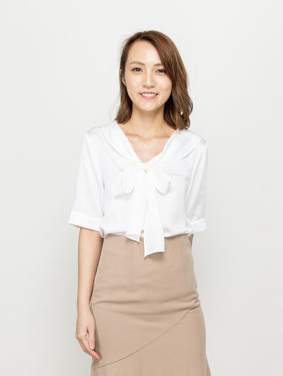 Doris tie blouse top