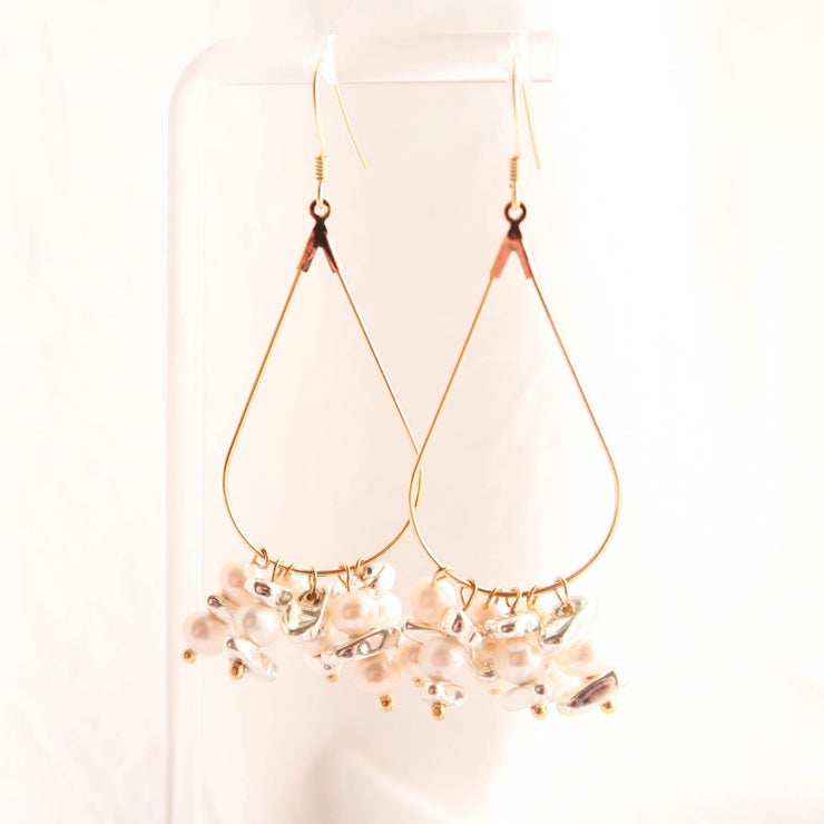 VOY Big pearl drop earrings