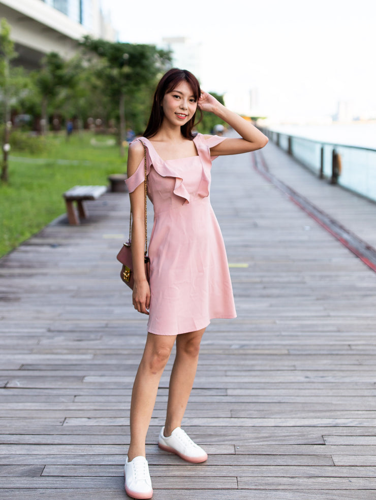 Ella a-line ruffle dress