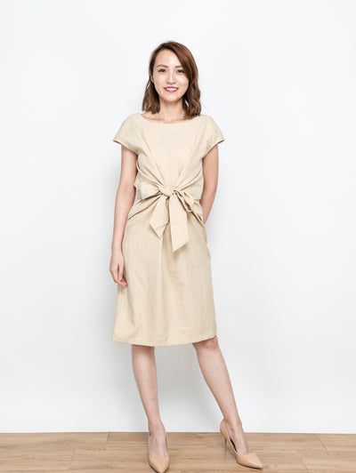 Ella tie waist dress