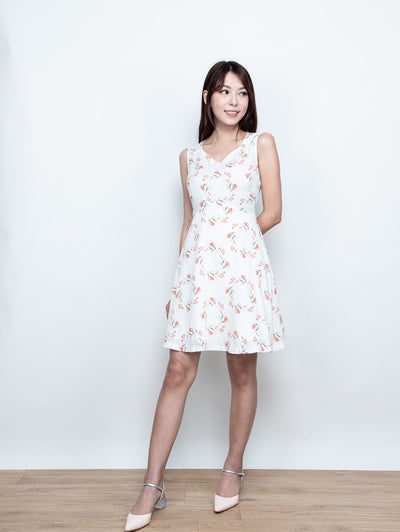 Fairen tie back floral dress