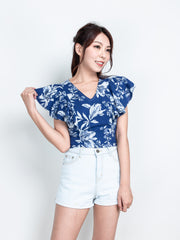 Fairen floral navy top