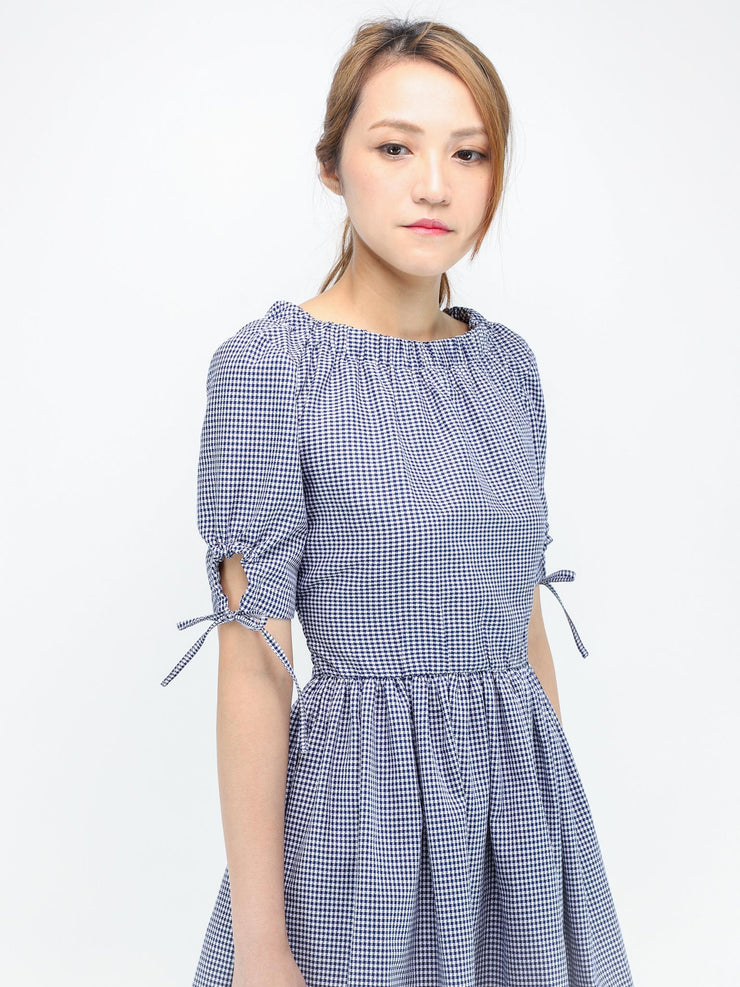 Jane tie cuff dress