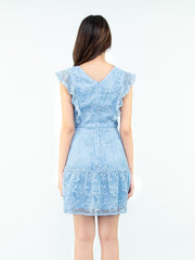 Gaily lace blue dress