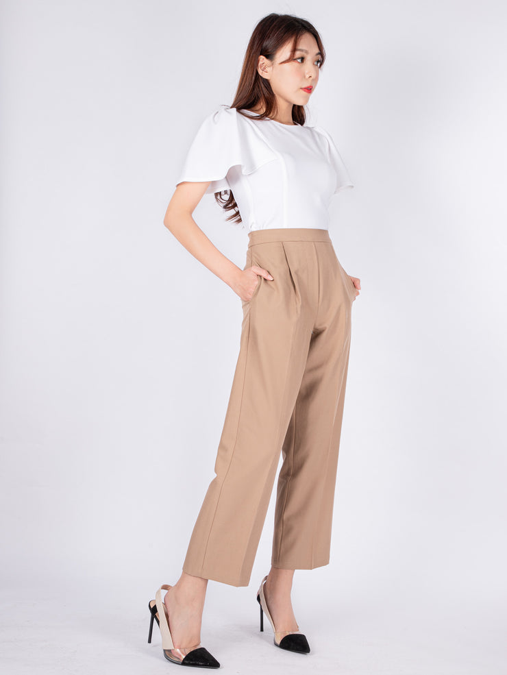 Haylie tailored camel pants