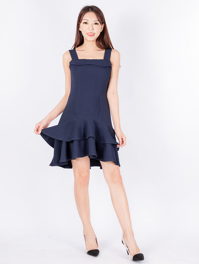 Haylie double ruffle layers dress