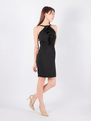 Haylie halter neck black dress