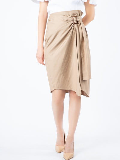 Haylie wrap belt beige skirt