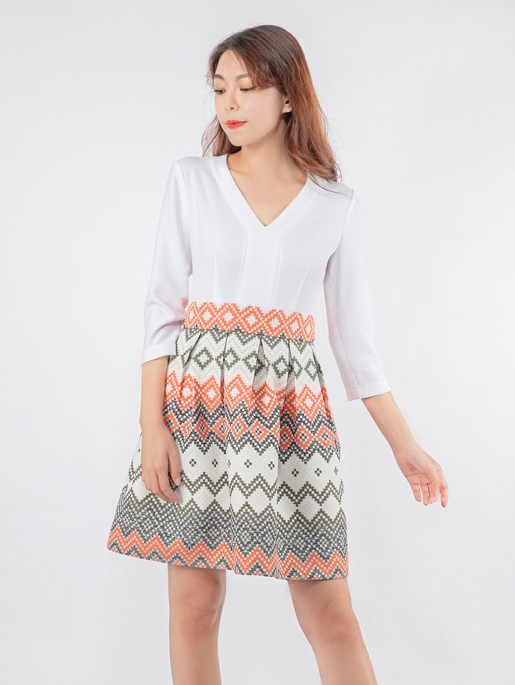 Joshie printed white dress
