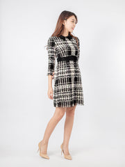 Joshie black collar tweed dress