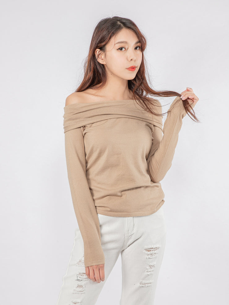 Joshie drop shoulder knit top