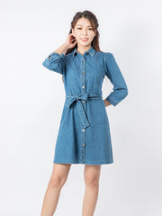 Haylie washed denim dress