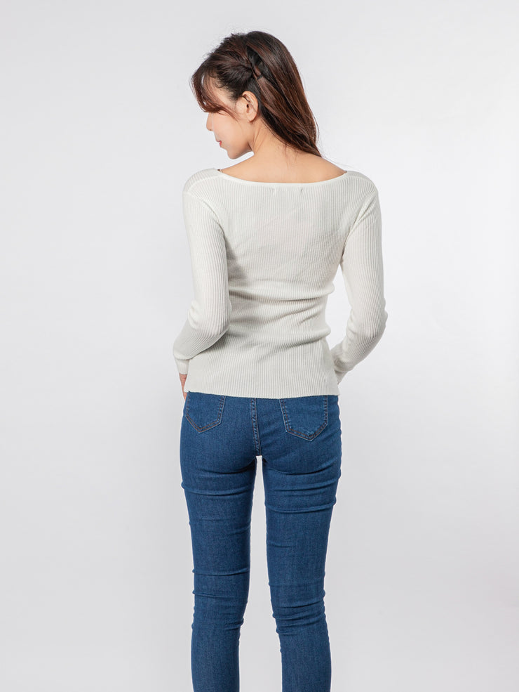 Joshie cross front knit top