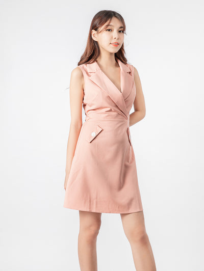 Haylie lapel dress