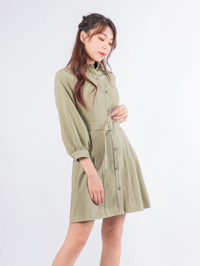 Kylie button up shirt dress