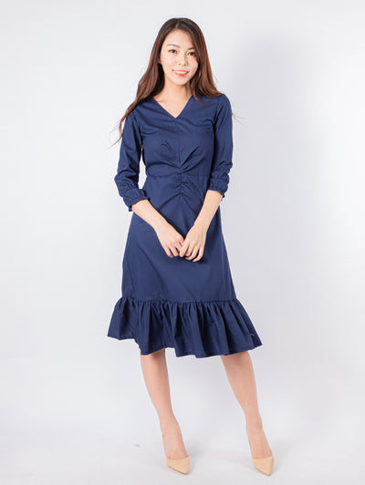 Joshie twist front navy dress