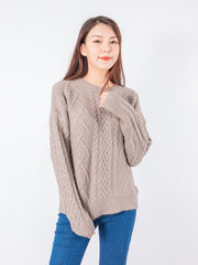 Joshie easy crew neck knit top