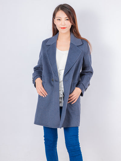 Kylie navy brushed coat