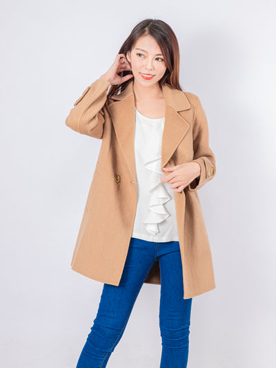 Kylie camel brushed coat