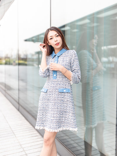 Kylie Denim Tweed Dress