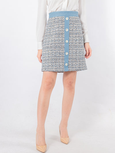 RDM Made kylie denim tweed skirt