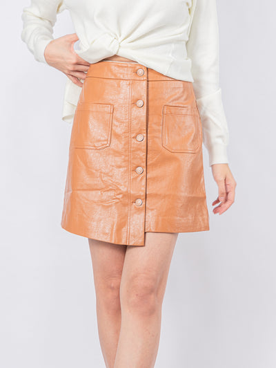 Kylie faux leather skirt
