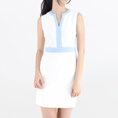 Contrast color sleeveless dress