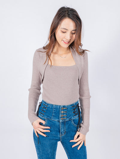 Aria wheat knit top