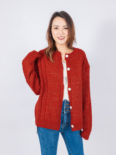 Aria red knit jacket