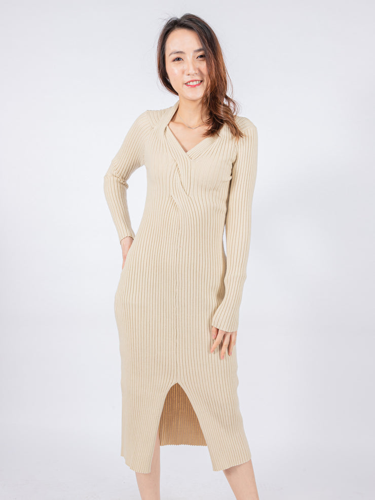 Aria twisted knit dress