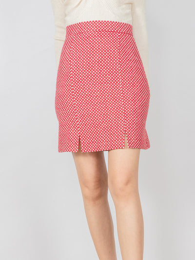 Aria red skirt