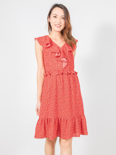 Bella floral ruffle dress