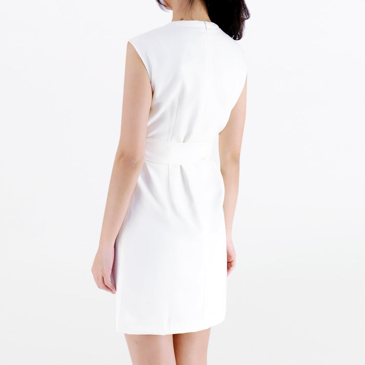 Gathered neck dress