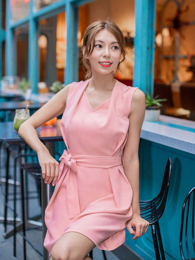 Kayla pleated neckline dress (Pre-Order: Expected Arrival Early Nov 2020)