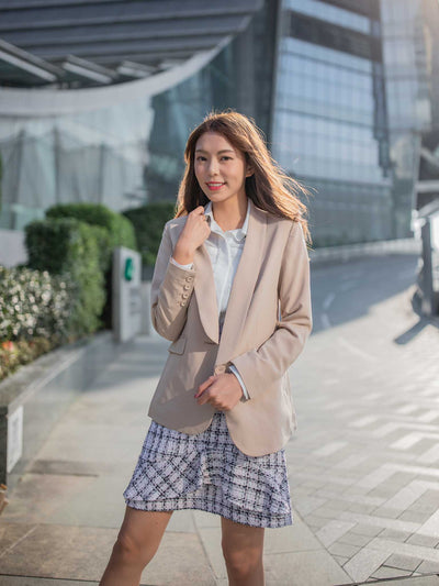 Jane slim cut one button blazer