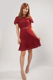 Alexa ruffle cuff dress