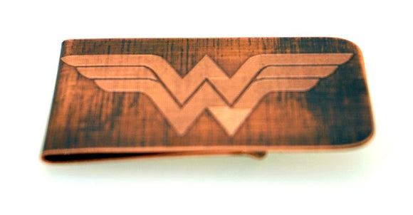 Wonderwoman Money Clip- Copper