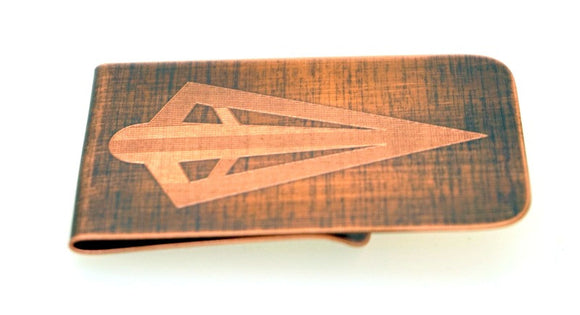 Green Arrow Money Clip- Copper