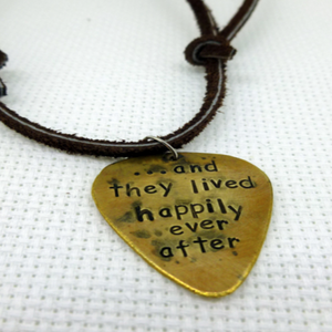 Happily Ever After- Guitar Pick Necklace